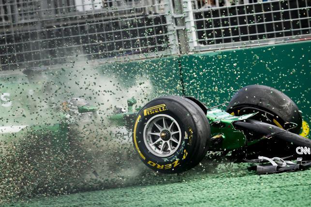 Kamui Kobayashi rozbił bolid tuż po starcie GP Australii