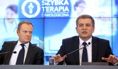 Donald Tusk i Bartosz Arłukowicz