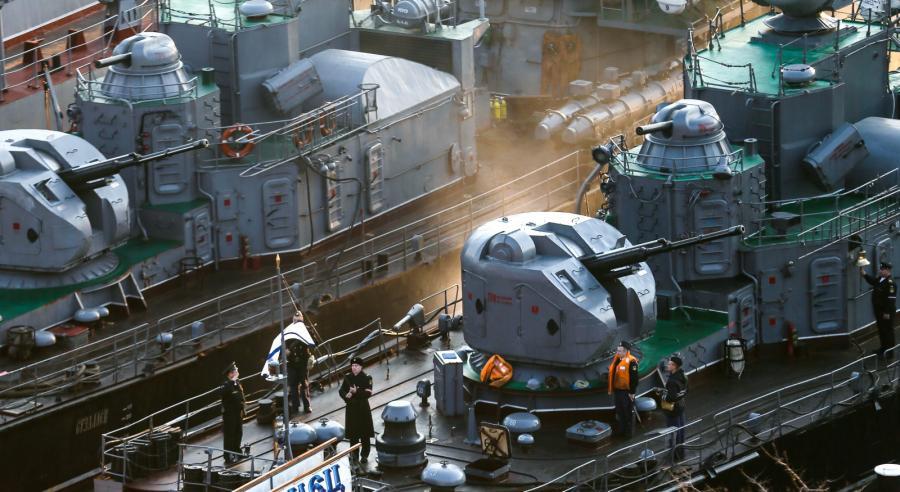 Rosyjskie okręty marynarki w Sewastopolu