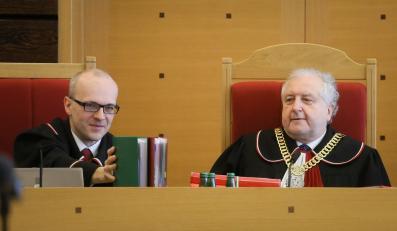 Prezes Trybunału Konstytucyjnego Andrzej Rzepliński i sędzia Marek Zubik
