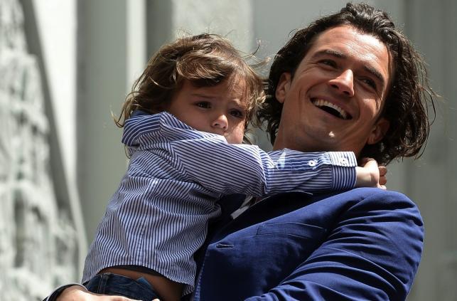 Orlando Bloom z synkiem Flynnem