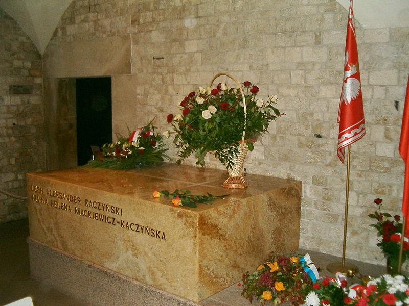 Grób prezydenckiej pary na Wawelu