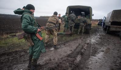 Ukraińscy żołnierze w pobliżu Doniecka