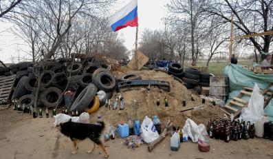Barykady prorosyjskich bojówek