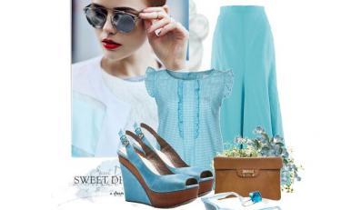 Wielki błękit - STYLIZACJE z niebieskimi ubraniami wiosna/lato 2014