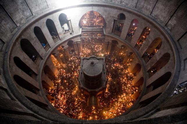 Cud Ognia w Bazylice Grobu Świętego