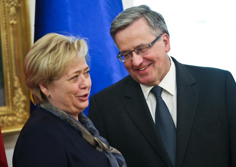 prof. Małgorzata Gersdorf i Bronisław Komorowski