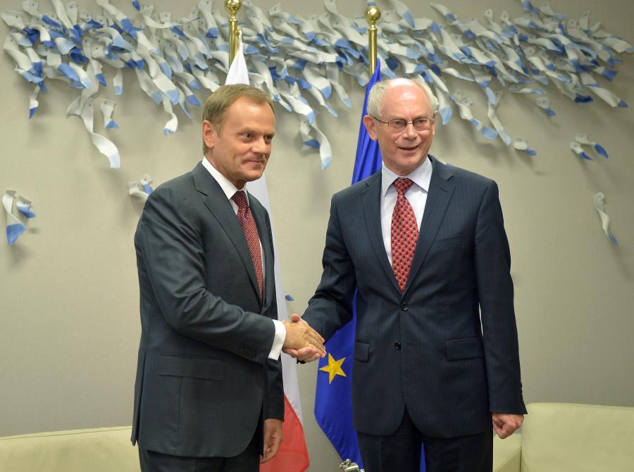 Donald Tusk i Herman van Rompuy