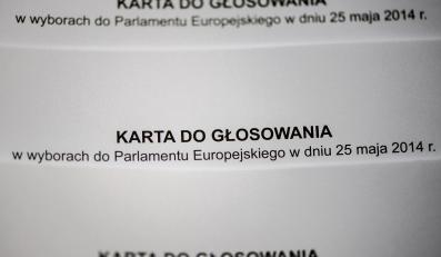 Karta do głosowania do europarlamentu