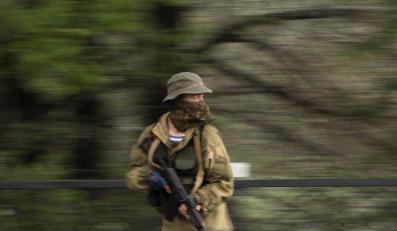 Jeden z separatystów w Doniecku
