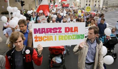 Marsz Dla  Życia i Rodziny w Warszawie
