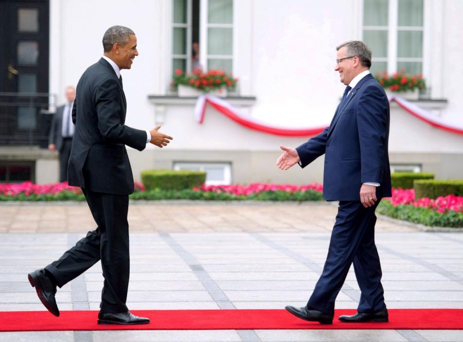 Barack Obama prezydent USA Polska Bronisław Komorowski