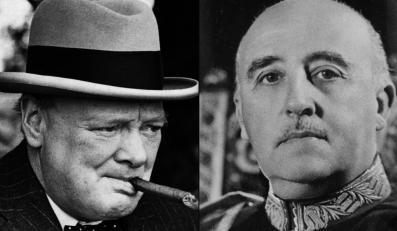 Churchill płacił miliony dolarów wojskowym z otoczenia gen. Franco