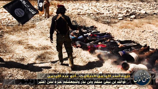 Zdjęcia z prawdopodobnych egzekucji, dokonanych przez sunnickie bojówki