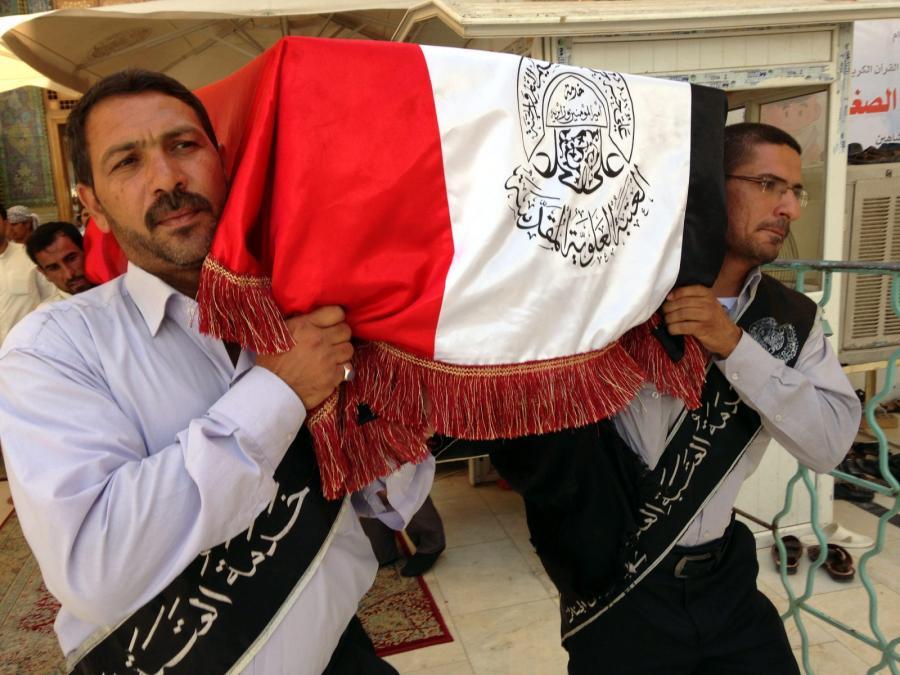 Pogrzeb jednej z ofiar walk w Iraku