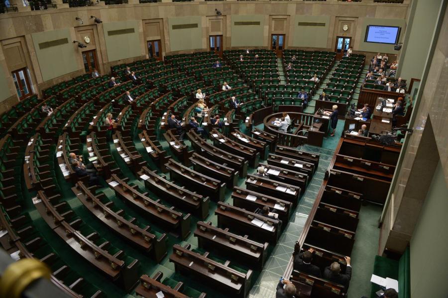 Sala plenarna podczas posiedzenia Sejmu