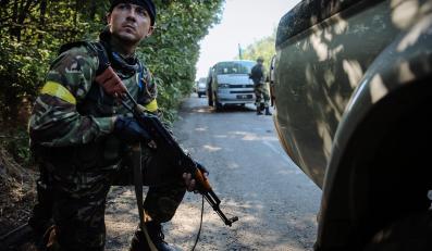 Ukraińscy żołnierze pod Donieckiem