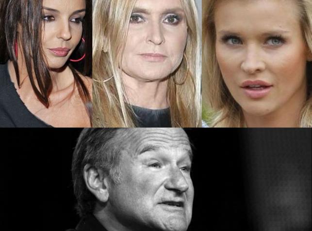 Agnieszka Włodarczyk, Monika Olejnik, Joanna Krupa, Robin Williams