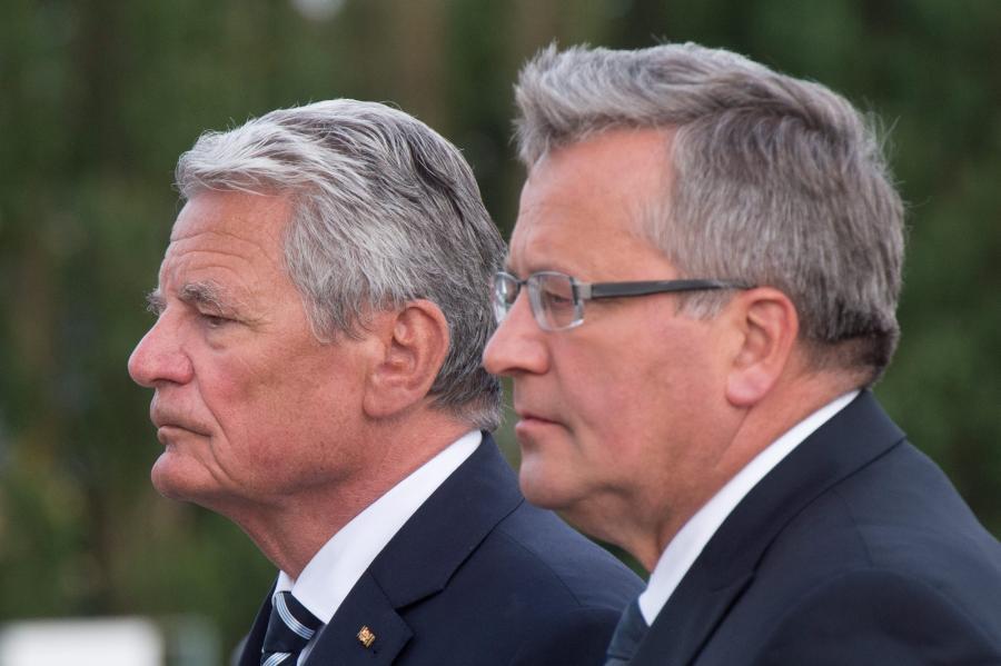 Prezydent Niemiec Joachim von Gauck i prezydent Polski Bronisław Komorowski