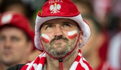 Kibic na meczu Polska-Wenezuela