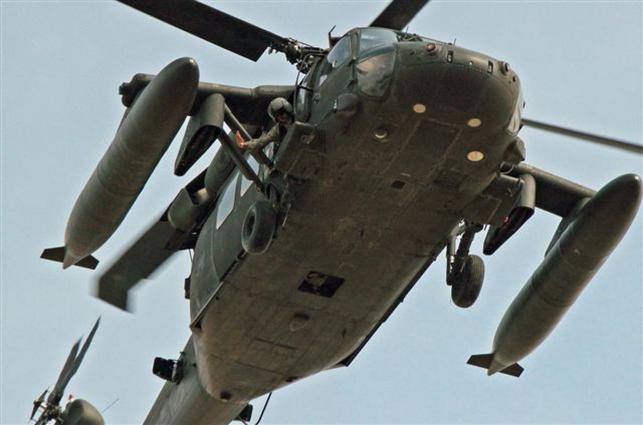 Amerykańskie śmigłowce lądowały niedaleko Gruty (fot. www.gruta.pl)