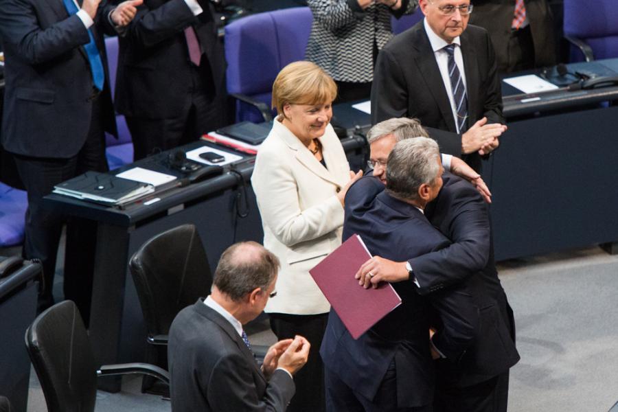 Bronisław Komorowski w Bundestagu