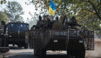 Ukraińscy żołnierze w Doniecku