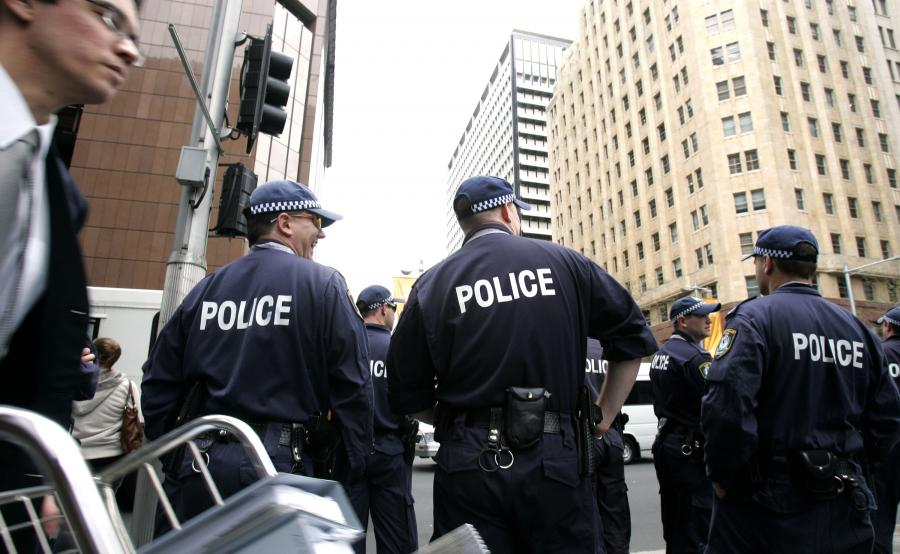 Patrol policji w Sydney