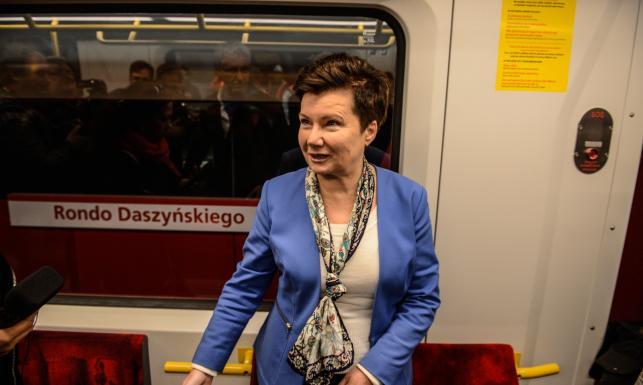 Gronkiewicz-Waltz zachwala centralny odcinek drugiej linii metra: Dzieło sztuki. ZDJĘCIA