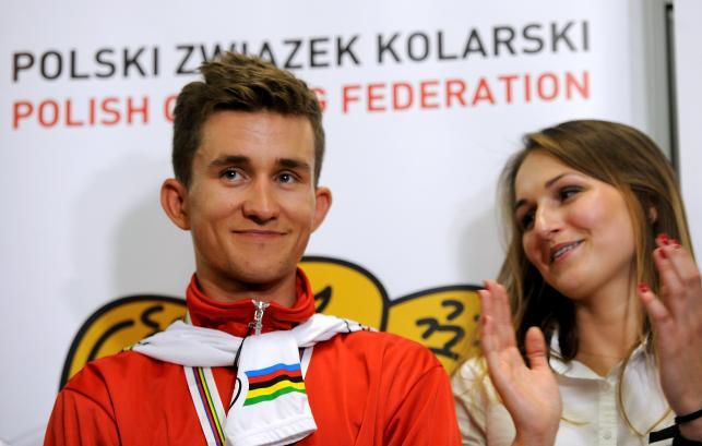 Michał Kwiatkowski wrócił do kraju. Tak powitano mistrza świata!