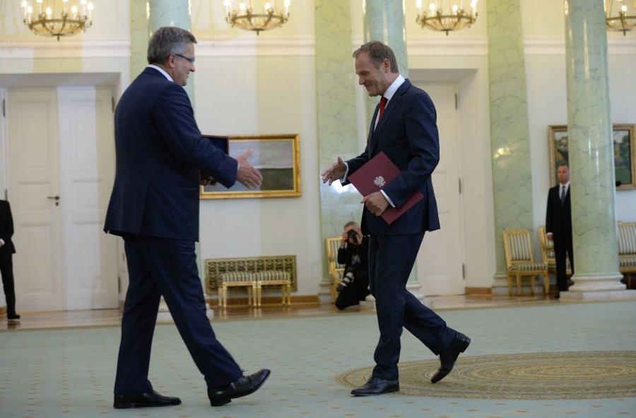 Bronisław Komorowski i Donald Tusk