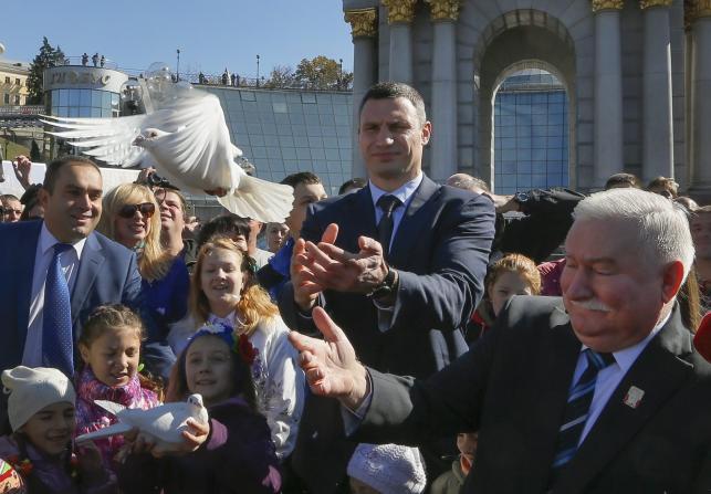 Lech Wałęsa na Majdanie