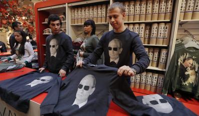 Władimir Putin na koszulkach