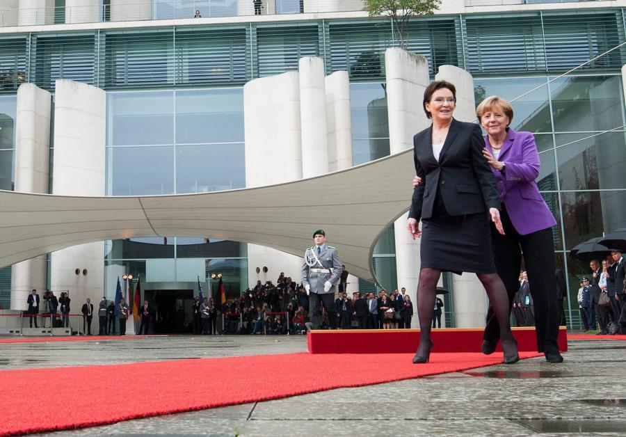 Ewa Kopacz i Angela Merkel w Berlinie