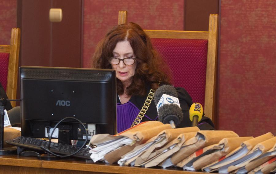 Sędzia Bożena Summer-Brason ogłasza wyrok Sądu Apelacyjnego w Katowicach, w sprawie Katarzyny Waśniewskiej