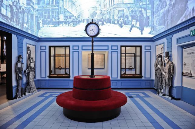 """Wystawa """"Wyzwanie Nowoczesności"""" - fragment ekspozycji stałej w Muzeum Historii Żydów Polskich"""