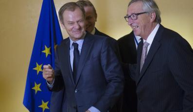 Donald Tusk na spotkaniu z Jose Barroso, Hermanem Van Rompuy'em, Jean Claudem Junckerem