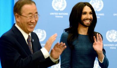 Conchita Wurst gościem Ban Ki-moona w siedzibie ONZ