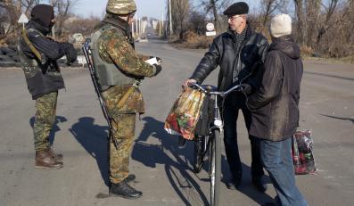 Ukraińscy żołnierze na wschodzie Ukrainy