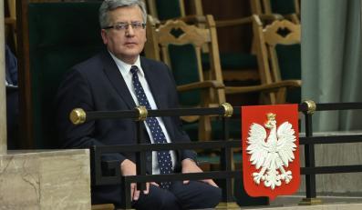Prezydent Bronisław Komorowski w Sejmie