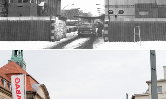 Niemcy podzielone i zjednoczone. Te same miejsca przed i po upadku muru berlińskiego