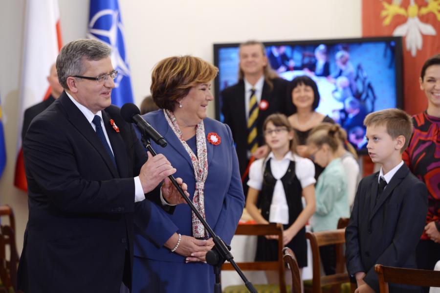 Para prezydencka Bronisław i Anna Komorowscy