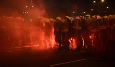Policja w czasie Marszu Niepodległości w Warszawie