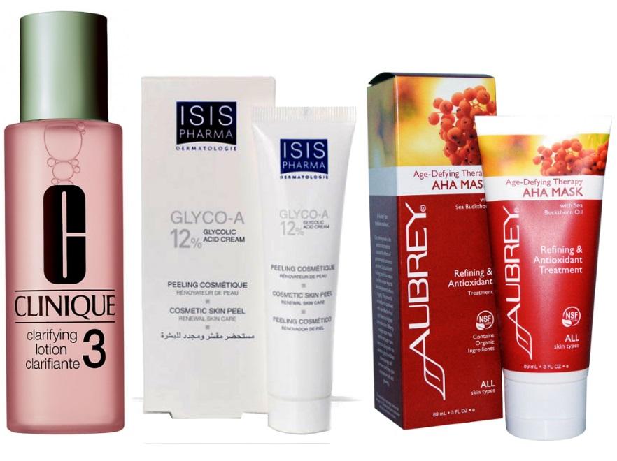 Kosmetyki zawierające kwasy