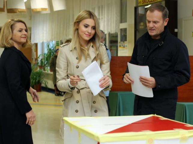 Małgorzata, Donald i Katarzyna Tuskowie