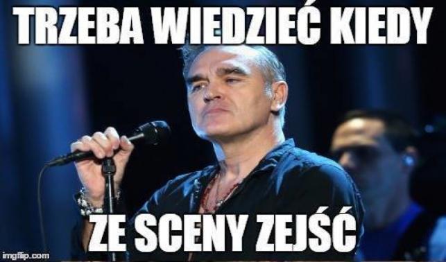Memy z Morrisseyem po przerwanym koncercie