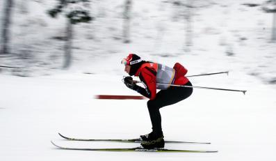 Justyna Kowalczyk podczas treningu w Kuusamo