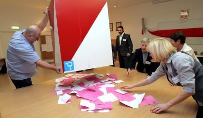 Liczenie głosów po drugiej turze wyborów samorządowych