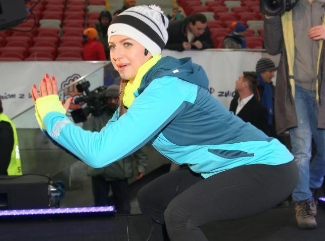 Anna Lewandowska poprowadziła lekcję WF na Stadionie Narodowym