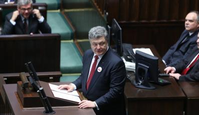 Petro Poroszenko w Sejmie